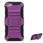 2-in-1 Fashion Silicon + PC Protective Case for Iphone 5 - Purple + Black