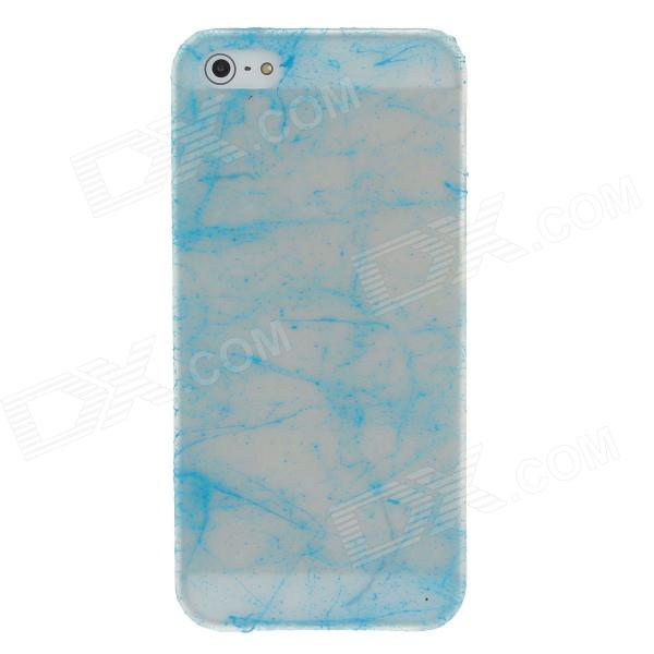 все цены на  Fashion Glow in the Dark Protective Frosted Plastic Back Case for Iphone 5 / 5s - Transparent + Blue  онлайн