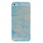 Fashion Glow in the Dark Protective Frosted Plastic Back Case for Iphone 5 / 5s - Transparent + Blue