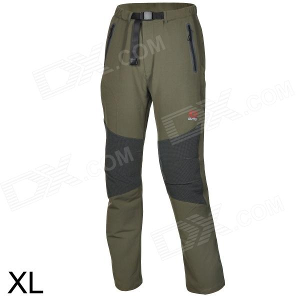 Outto Outdoor Sports Waterproof Polyester Pants for Men - Khaki + Black (XL)