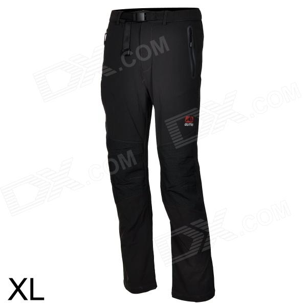 Outto Outdoor Sports Waterproof Polyester Pants for Men - Grey + Black (XL) купить дешево онлайн