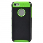 Fashionable Contrast Color PC+TPU Protective Back Case for Iphone 5C - Black + Green