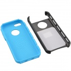 Fashion Contrast Color PC + TPU Protective Back Case for Iphone 5 / 5s / 5c - Black + Blue