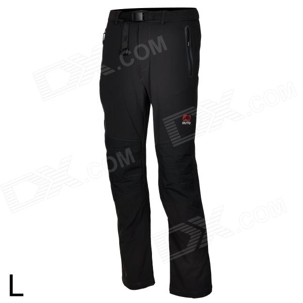 Outto Outdoor Sports Waterproof Polyester Pants for Men - Black (L)