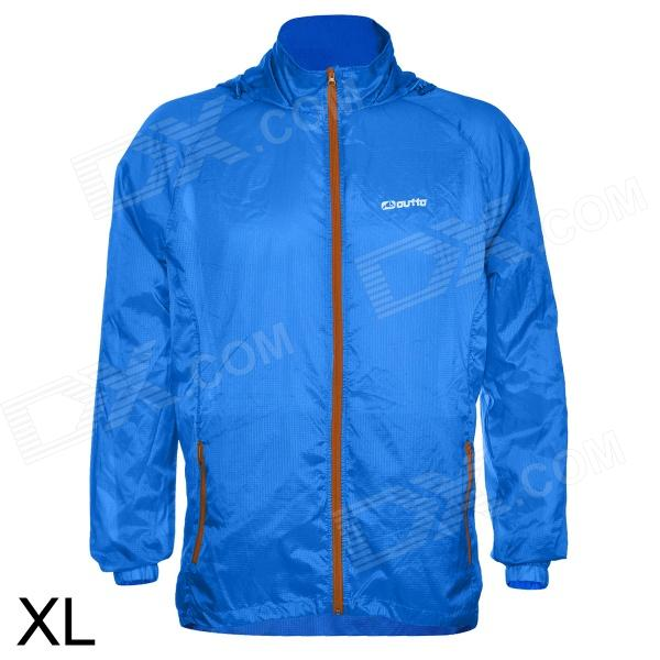 Outto #009A Sports Cycling Running Polyester Jacket for Men - Blue (XL)