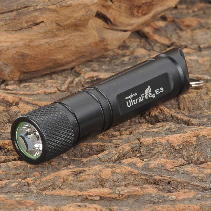 UltraFire E03 30lm LED White Light Flashlight - Black (1 x AAA)
