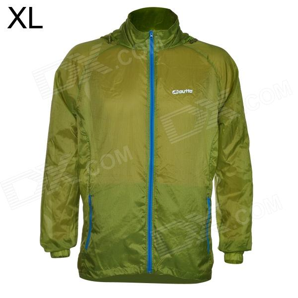 Outto #009A Sports Ultra-thin Cycling Running Polyester Jacket for Men - Blue + Army Green (XL)