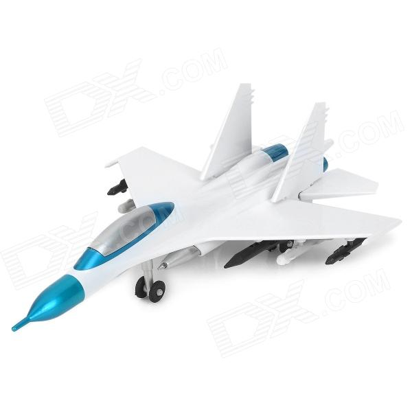 Creative Airplane Style Blue Ink Ball Pen - White + Blue