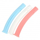 Creative Food Bag Opening Sealing Clips - White + Pink + Blue (3 PCS)