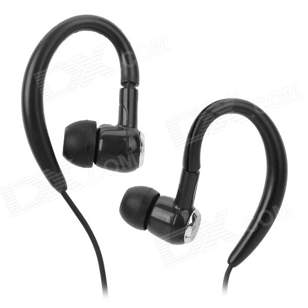 SMZ-E2 Ear Hook 3.5mm Jack Wired Headset - Black