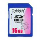 TOPRAM SD HC Class 10 SD Card - Deep Blue (16GB )