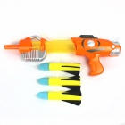 Children's Soft Bullet Artillery Gun - Orange + Grey
