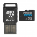 SAMSUNG Class 10 Micro SD TF Card + Card Reader Set - Black (32GB)