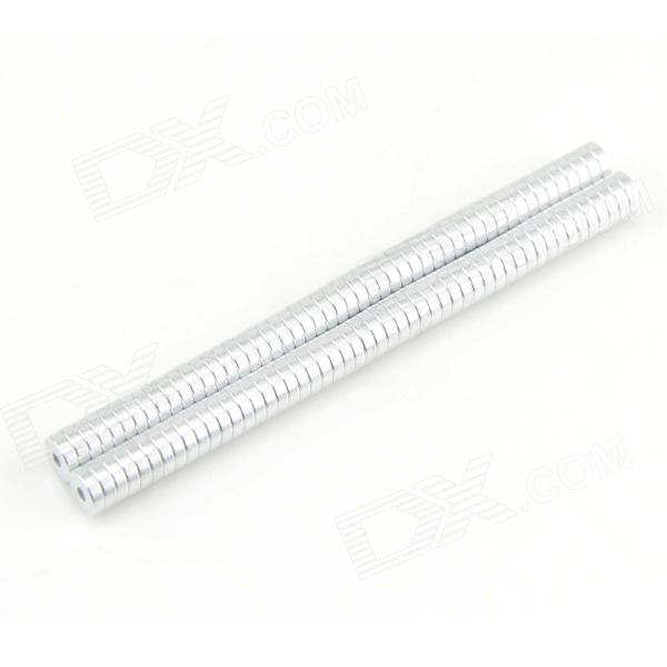 Small Hole NdFeB Magnets - Silver (100PCS)
