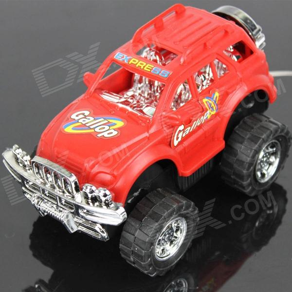 PUMAN 2-Channel Wired Remote Control Off-road Vehicle - Crimson + Black