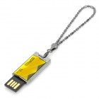 SILICONPOWER TOUCH 850 Water Resistant Shockproof Dust Proof USB Flash Drive - Yellow + Silver (32G)