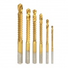 High-Speed Steel Drill Bit Set - Golden (6 PCS)