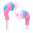 SMZ-640 Stylish Universal 3.5mm Jack Wired In-ear Headset - White + Pink + Multi-Colored