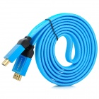 HD Aluminum Alloy HDMI Male to Male Meshed Cable - Blue (180cm)