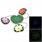 BSV-SL003 0.2W 0.1A Solar Powered Lotus Style Light - Green