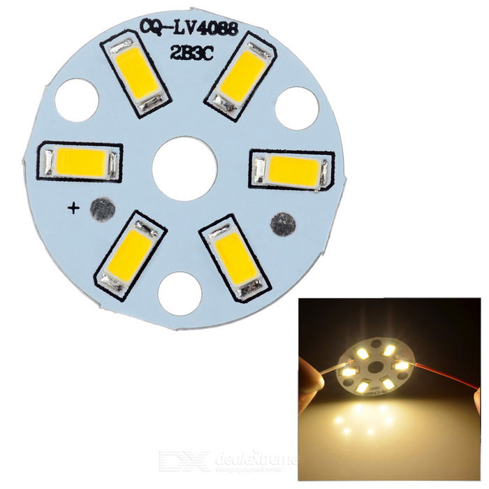 QP-3W SMD 3W 300lm 3000K 6 SMD 5730 Warm White Light LED Module