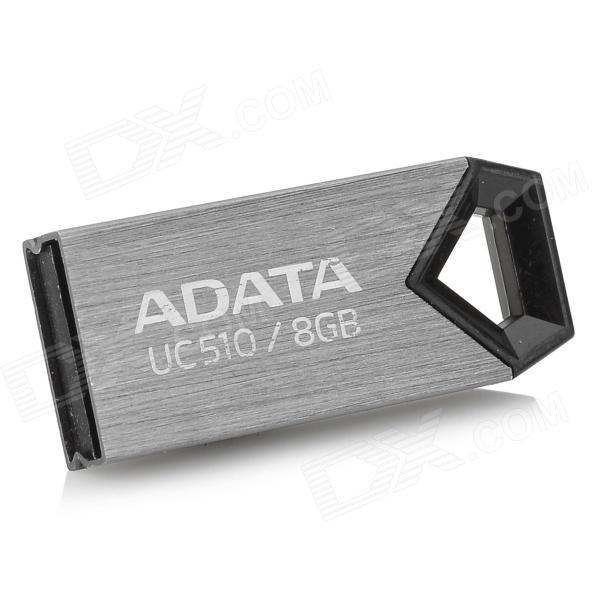 ADATA UC510 Mini Portable USB Flash Drive - Grey (8GB) usb flash drive 8gb smartbuy wild dog grey sb8gbdgr