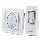 Digital Home Wireless Remote Control Switch - White + Silver