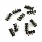 Jtron 5-Pin 3.5mm Stereo Earphone Jack Module - Black (10 PCS)