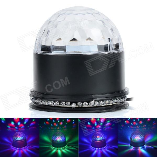 15W 48-LED RGB Sunflower Light + 3 x 3W RGB Cystal Magic Ball Dream light - Black (85~266W)