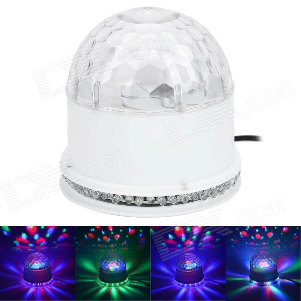 15W 48-LED RGB Sunflower Light + 3 x 3W RGB Cystal Magic Ball Dream light - White (85~266W)