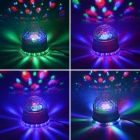 15W 48 LED RGB Girassol Light + 3 x luz 3W RGB Cystal Magic Ball Dream - Branco (85 ~ 266W)