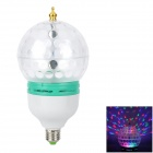 LetterFire E27 3W 3-LED RGB Colorful LED Bulb - White + Light Green + Multicolored (AC 85-265V)