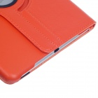360 asteen kierto Suojaava PU Leather Case Cover Jalusta w / Auto Sleep Ipad AIR - Orange