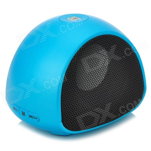 AT-BK702 Stylish Bluetooth V2.1 Speaker w/ Microphone / TF / Phone Call - Light Blue