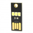 WY002 Mini 22lm USB lámpara de luz blanca 3-LED para PC / portátil / Power Bank - Negro