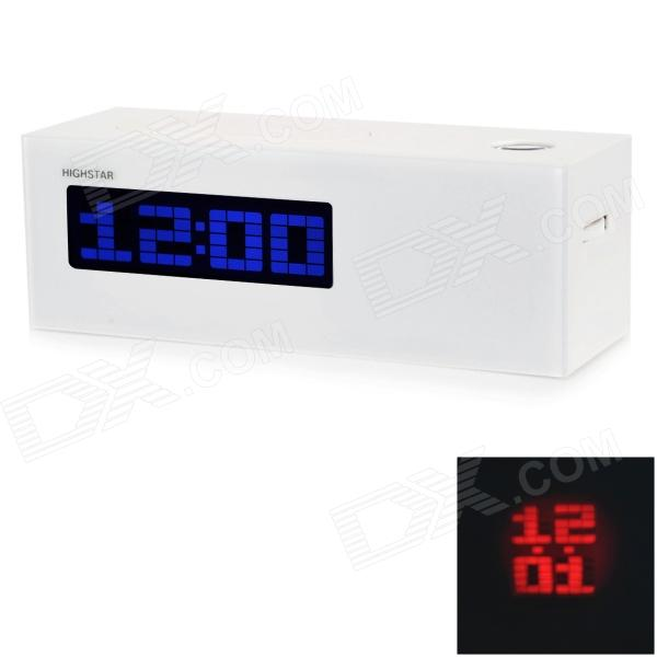 HIGHSTAR HSD1139A Projector 3.2'' LCD Clock - White + Black (3 x AAA)