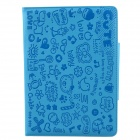 Cute Faerie Pattern Protective PU Leather Case Cover Stand for Ipad AIR - Blue