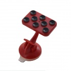 IMOLINT CS017 360 Degree Rotatable Multifunction Desktop Suction Cup Holder for Cell Phone - Red