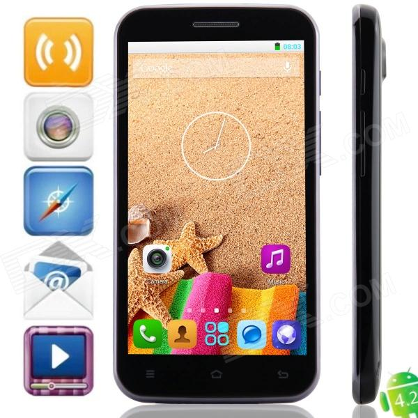H7500B MTK6582 Quad-Core Android 4.2.2 WCDMA Bar Phone w/ 5.0″ QHD, Wi-Fi, 4GB ROM, GPS – Black