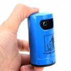 Trash Bin Style Zinc Alloy + Plastic Yellow Flame Butane Gas Lighter - Blue