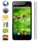 KICCY MTK6582 Quad-Core Android 4.2 WCDMA Bar Phone w/ 4.5 IPS, Wi-Fi, GPS, ROM 4GB - Black + White