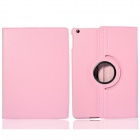 Lichee Pattern 360 Degree Rotation PU Leather Case Stand w/ Auto Sleep Cover for Ipad AIR - Pink