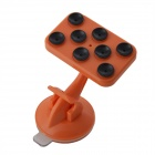 IMOLINT CS017 360 Degree Rotatable Multifunction Desktop Suction Cup Holder for Cell Phone - Orange