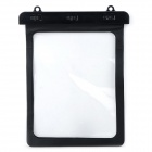 Universal Waterproof Protective PVC Bag for 10.1'' Tablet PC w/ Strap - Black