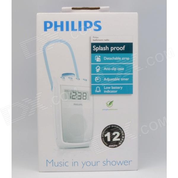 philips ae2330 bathroom splashproof clock radio 3x aa battery operated 2pcs free shipping. Black Bedroom Furniture Sets. Home Design Ideas