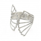 Classical Fashionable Vintage Peacock Showing Tail Style Bracelet - Antique Silver