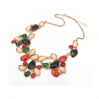 Stylish Exaggerated Geometry Style Beads Women's Necklace - Multicolored