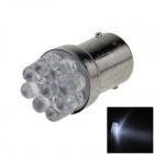 1156 / BA15S / P21W 0.3W 40lm 9-LED White Car Steering Light / Backup Light / Turn Lamp - (12V)