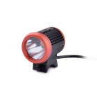 UltraFire D-60 CREE XM-L2 T6 3-Mode 800lm White Bike Light - Black + Red (4 x 18650)