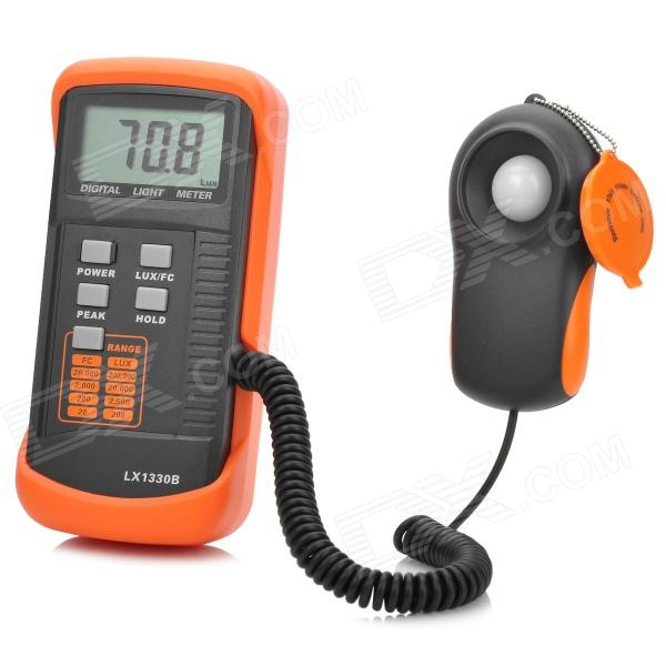 2.3 Screen LX1330B Digital LUX Meter - Orange + Deep Grey digital professional lux meter free shipping range 0 30000 lux st8050 st 8050